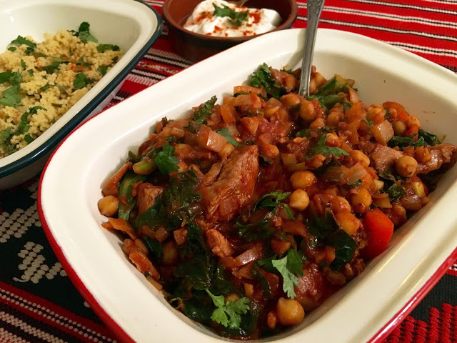 Harissa Lamb Stew with cous cous