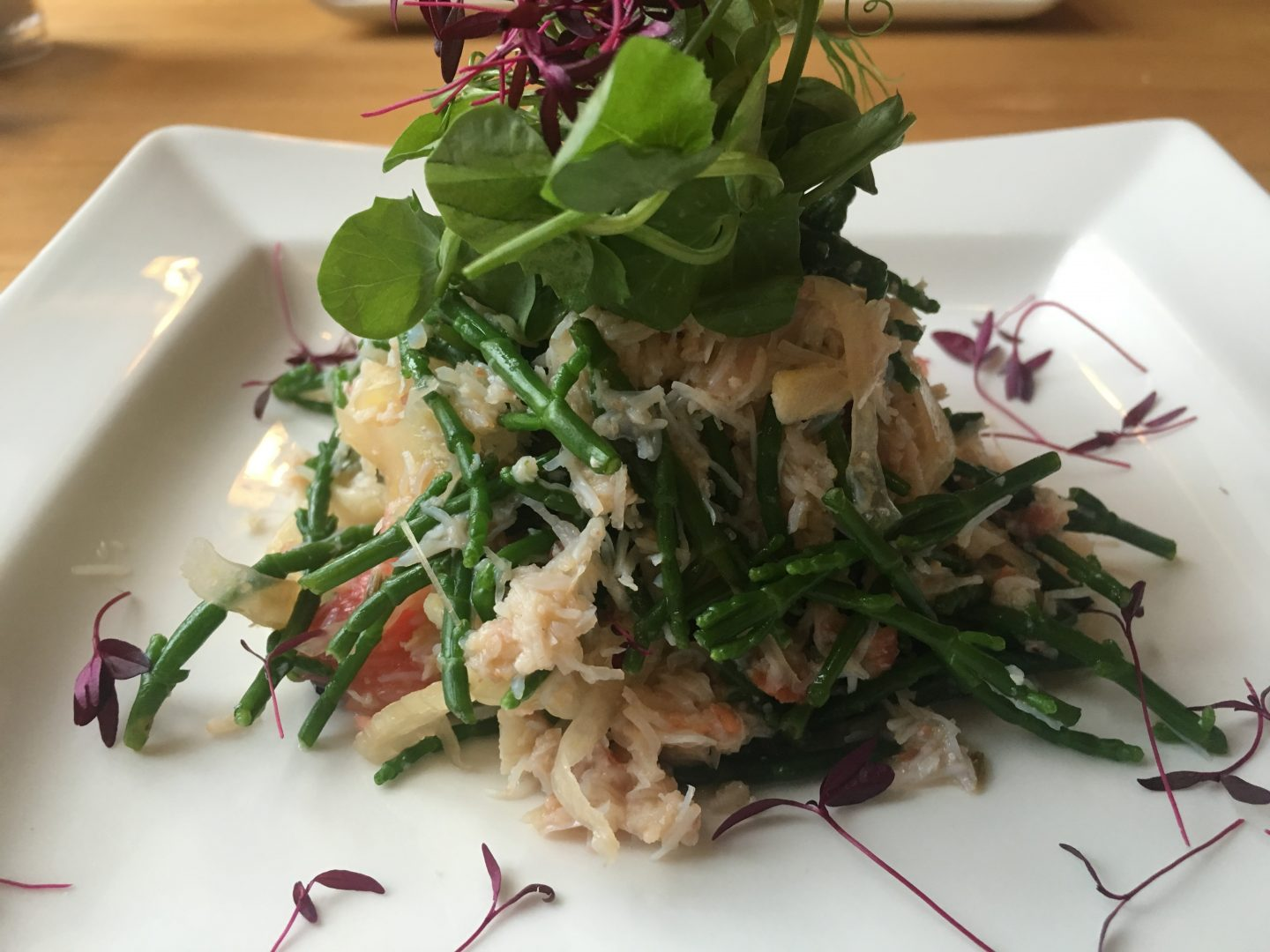 Crab and fennel salad at The George Inn