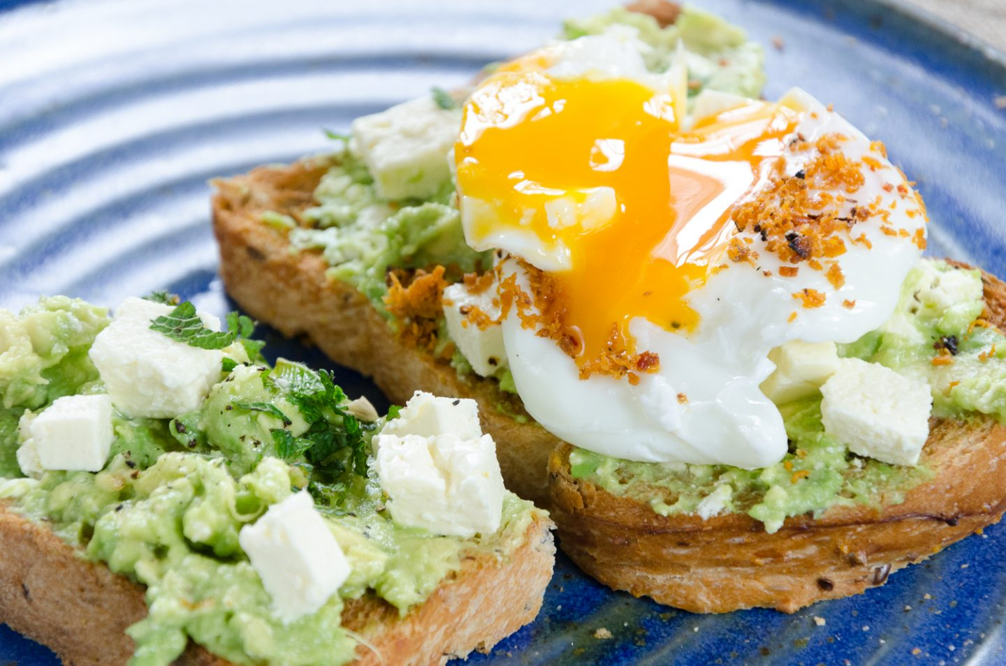 Smashed Avocado & Feta Two Ways