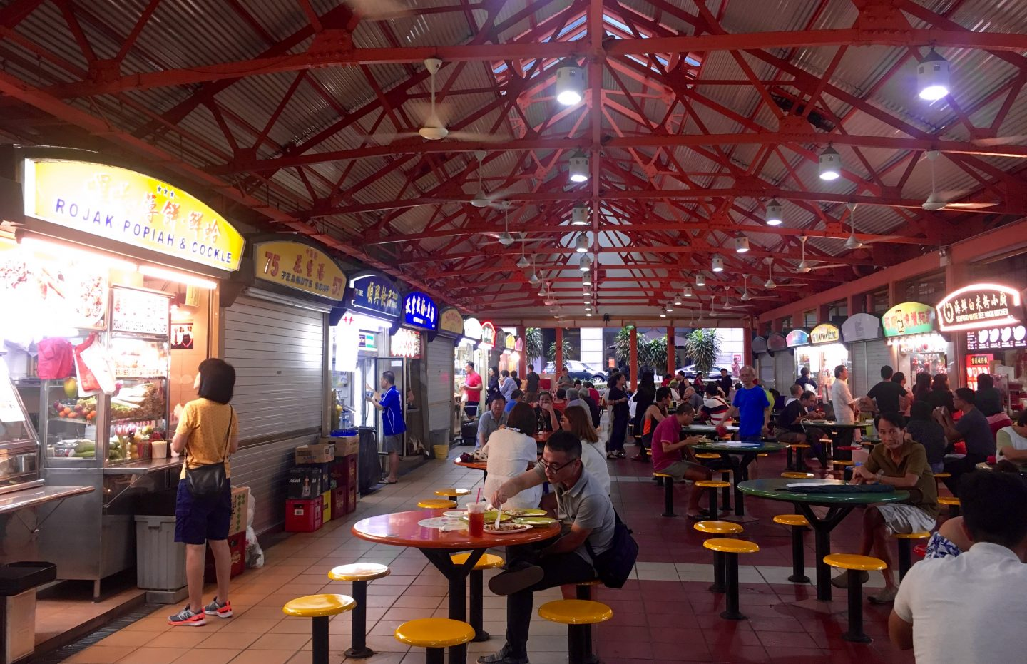 Inside Maxwell Road Hawker Centre