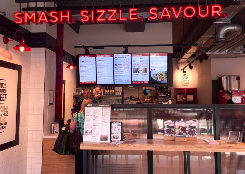 smashburger counter in bath