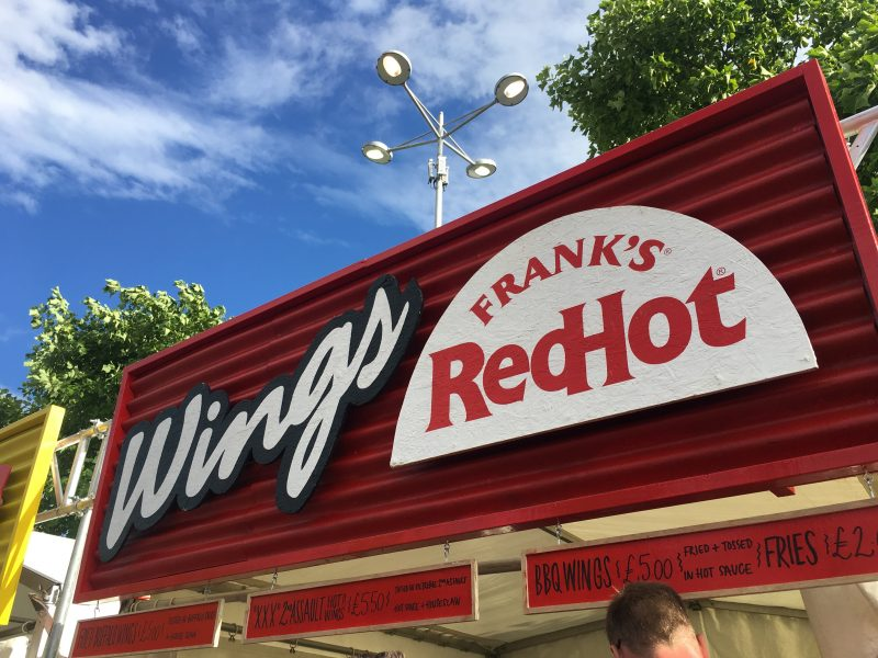 Franks Hot Wings Stall at Grillstock