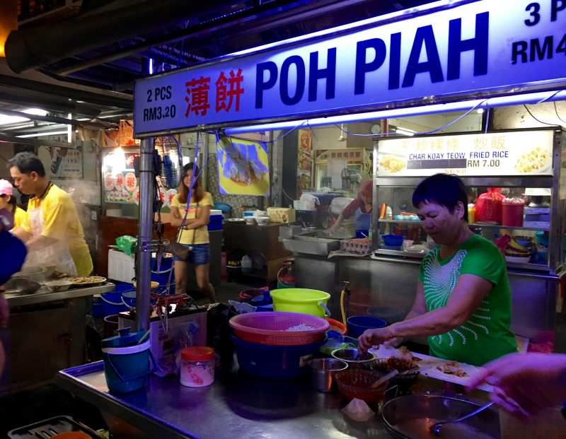 Poh Piah Stall at New Lane Hawker Centre, Malaysia