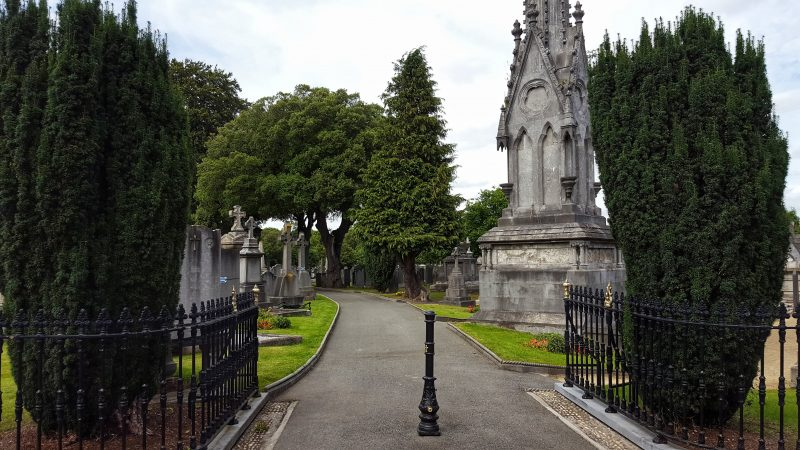 The entrance to Glasnevin Cemetery in Dublin