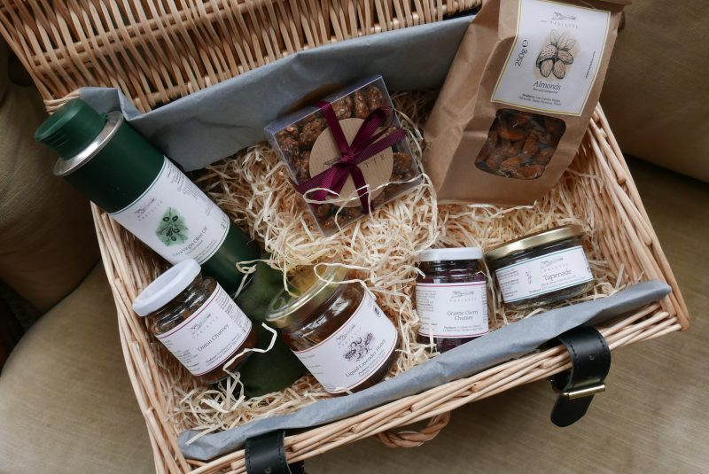 A beautiful hamper filled with provencal produc